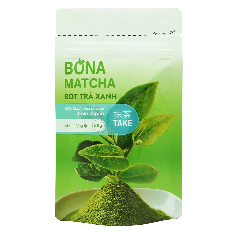 Bột Trà Xanh Nhật Bản Bona Matcha - Take 50g