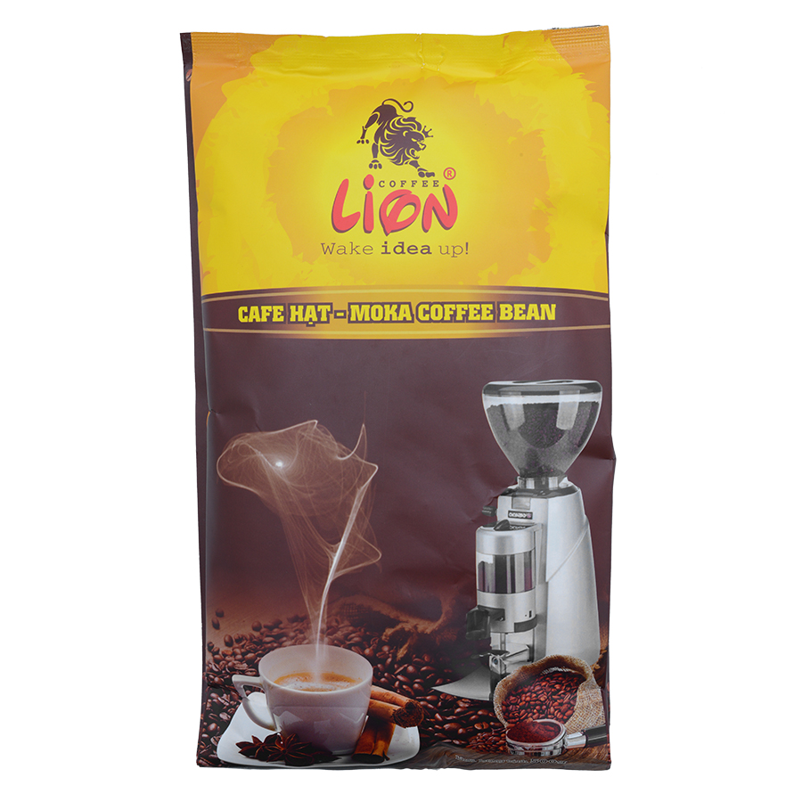 Cà Phê Lion Coffee Hạt Moka (500g)