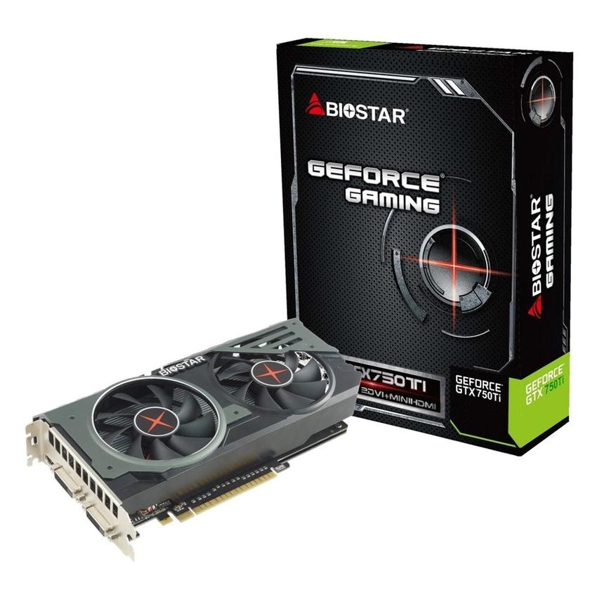 Card Màn Hình Biostar Geforce GTX750 TI 2Gb DDR5 (Dual Fan) - Hàng Chính Hãng