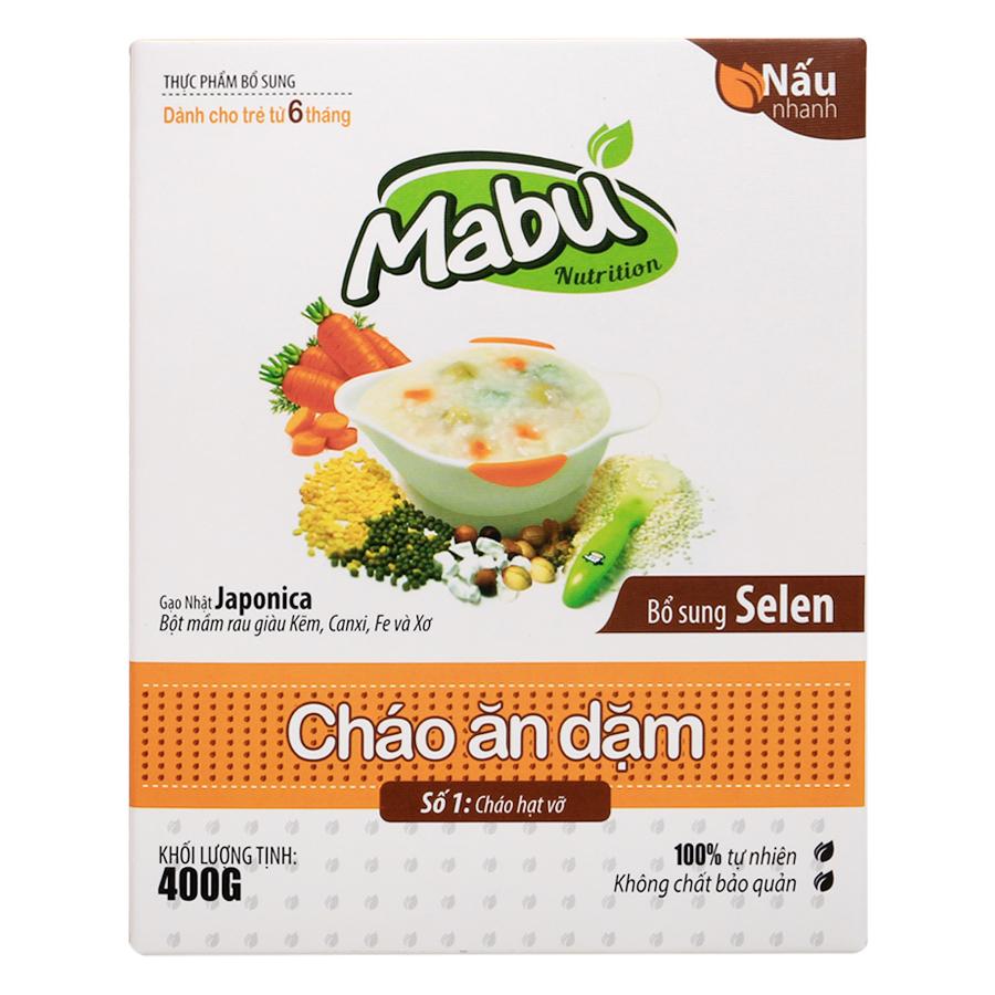 Cháo Ăn Dặm Mabu Hạt Vỡ (400g)