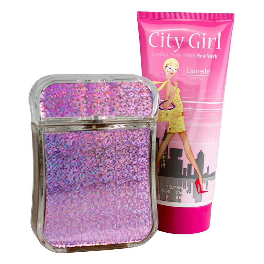 Bộ 2 Sản Phẩm Nước Hoa Nữ Laurelle London Perfumes City Girl New York Gift Set