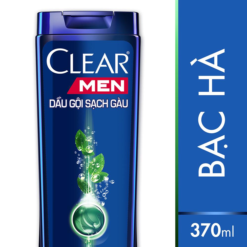 Dầu Gội Clear Men Sport Mát Lạnh Bạc Hà 370g