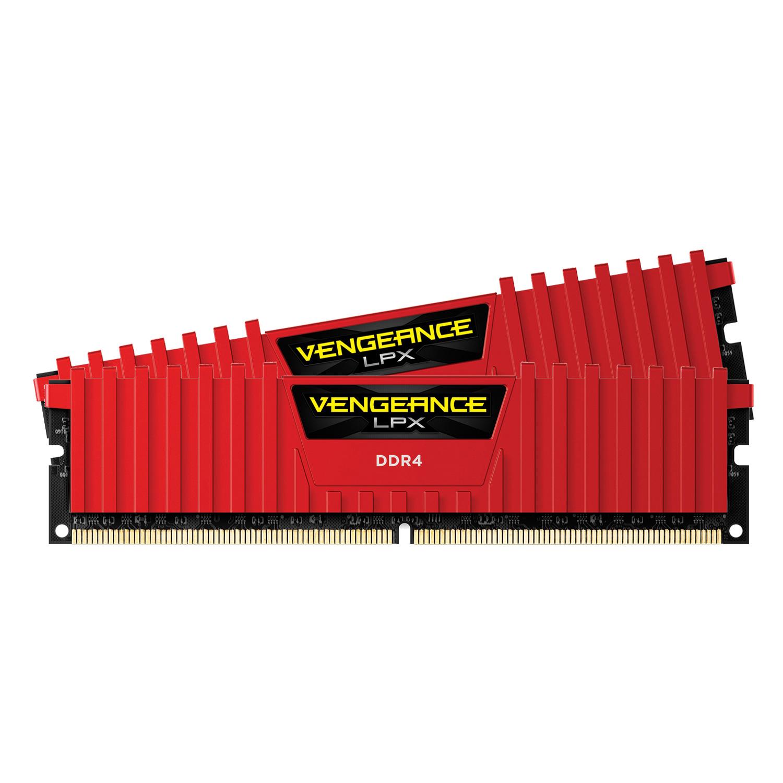 RAM Corsair Vengeance LPX (2 x 8GB) 16GB DDR4 2666 C16 RED - CMK16GX4M2A2666C16R