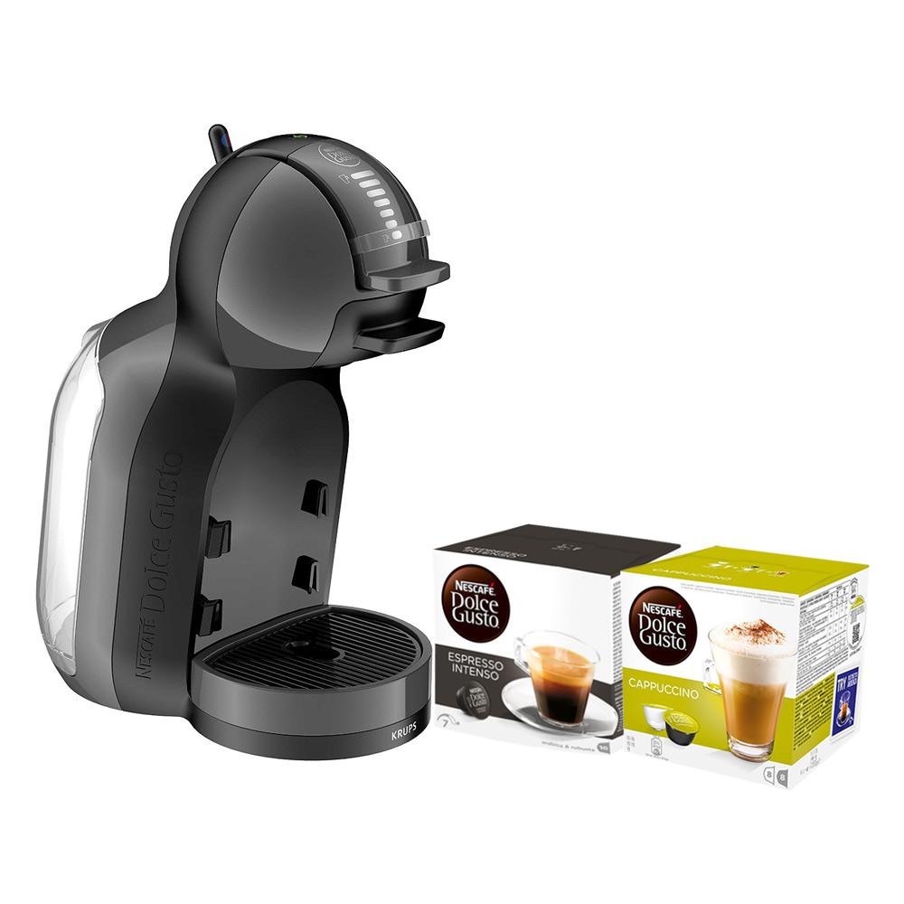 Combo Máy Pha Cà Phê NESCAFÉ Dolce Gusto - Mini Me (Đen) + 2 hộp Viên Nén (Cappuccino  Espresso Intenso)