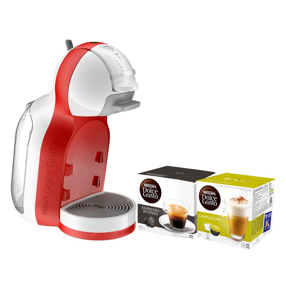Combo Máy Pha Cà Phê NESCAFÉ Dolce Gusto - Mini Me (Đỏ) + 2 hộp Viên Nén (Cappuccino  Espresso Intenso)