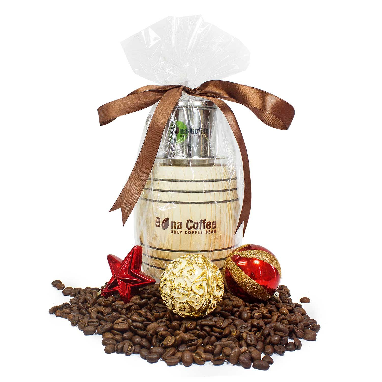 Combo Trống Gỗ Cà Phê Bona Coffee Giftset Coffee 520g