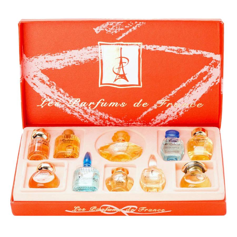 Bộ 10 Chai Nước Hoa Les Perfums De France Charrier Parfums DF710