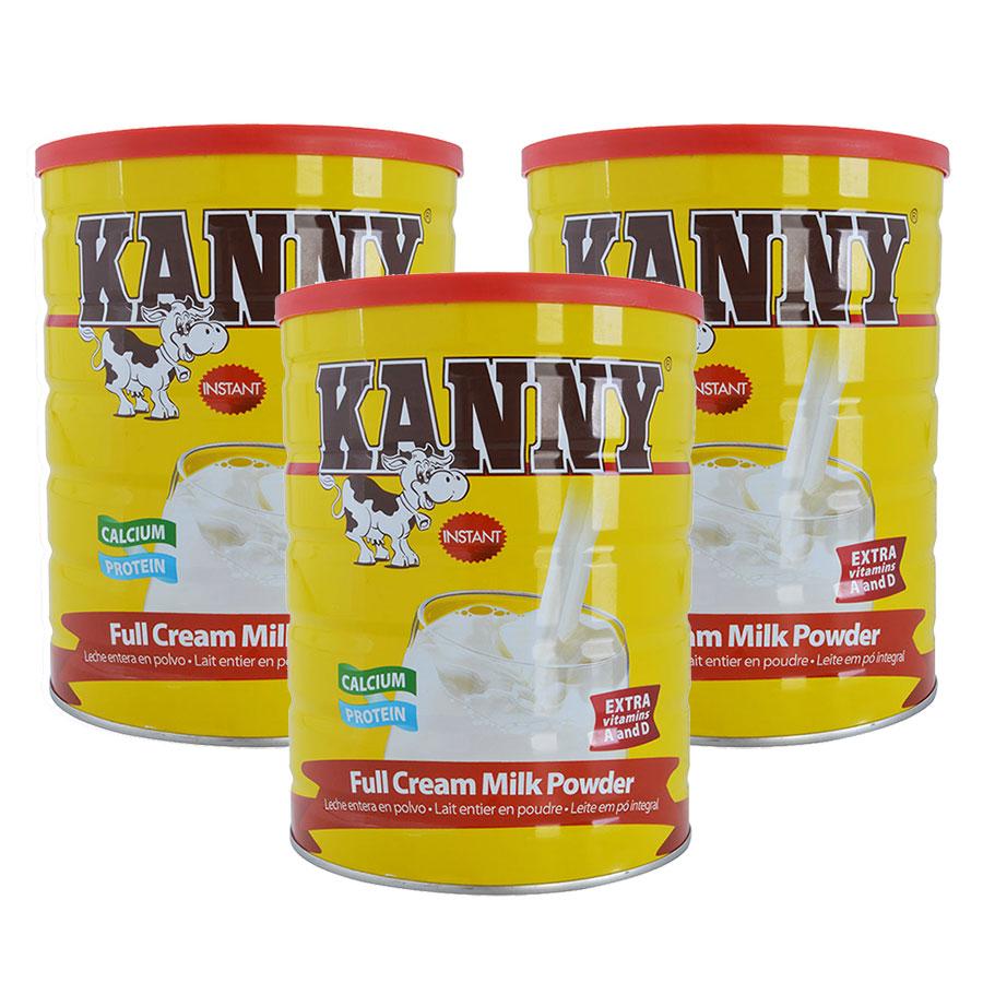 Combo 3 Hộp Sữa Bột Nguyên Kem Kanny 28% Chất Béo (900g / Hộp)