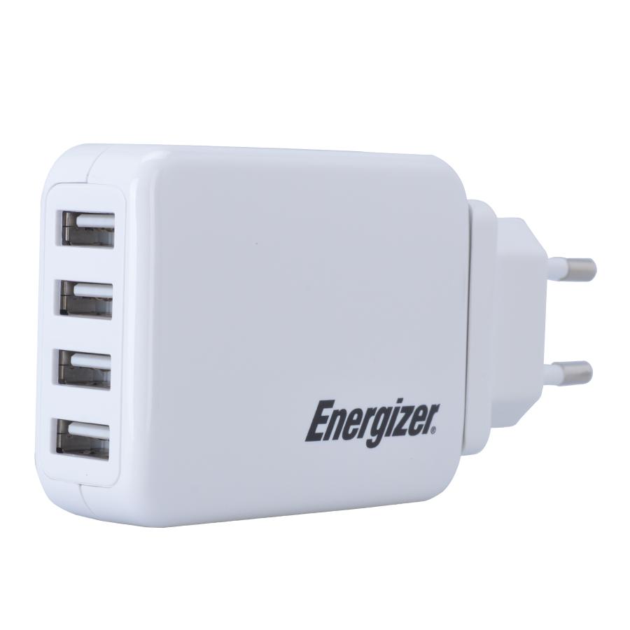 Adapter Sạc 4 USB 4.2A Energizer CL USA4BEUCWH5 - Trắng - Hàng Chính Hãng