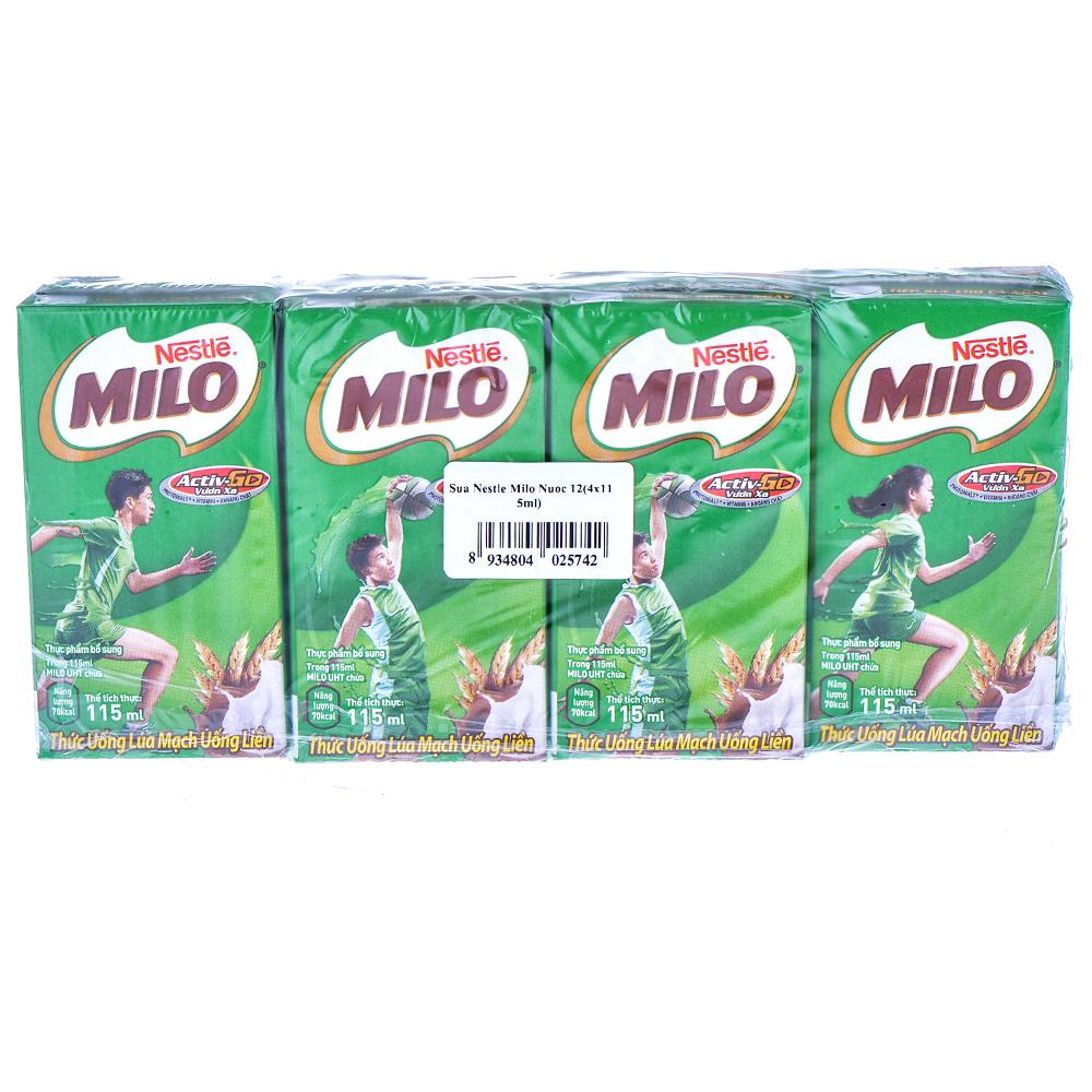 Sữa Nestle Milo Nước 12 (4x115ml)