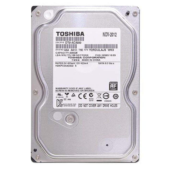 Ổ Cứng Trong Toshiba 500GB/32MB/7200rpm/3.5 - DT01ACA050