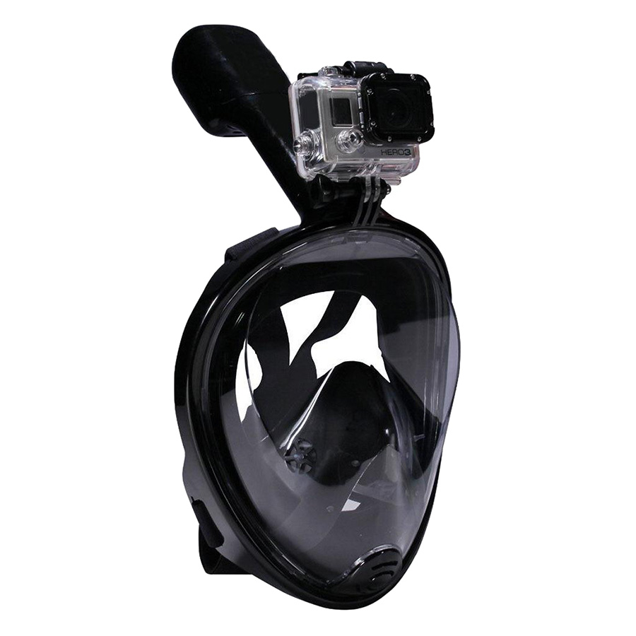 Mặt Nạ Lặn Full Face POPO FF168-L-BLACK (Size L) - Đen