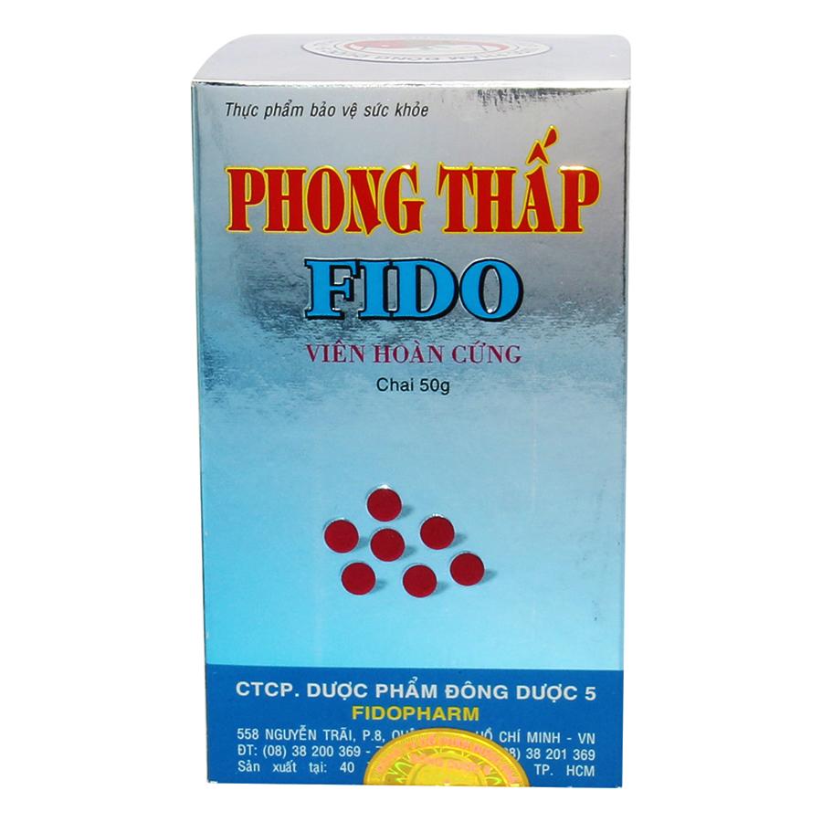 Thực Phẩm Chức Năng Hỗ Trợ Sức Khỏe Phong Thấp Fido Viên Hoàn Cứng Đông Dược 5 PTF001 (50g)