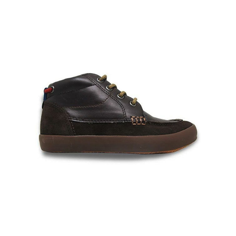 Giày Cổ Lửng Buộc Dây Bé Trai DA B1604 - Nâu