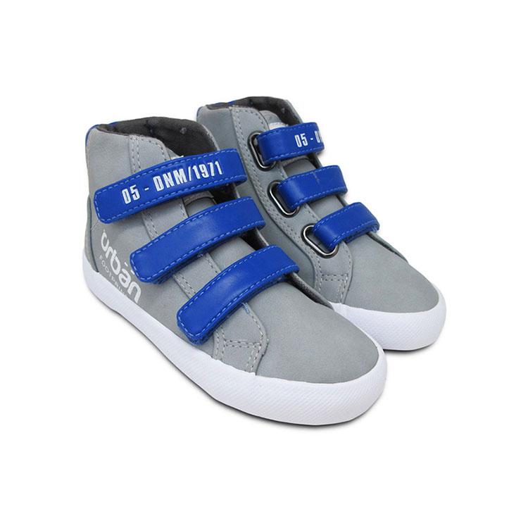 Giày Cổ Lửng Ba Quai Dán Bé Trai Nomnom UB1605 - Ghi