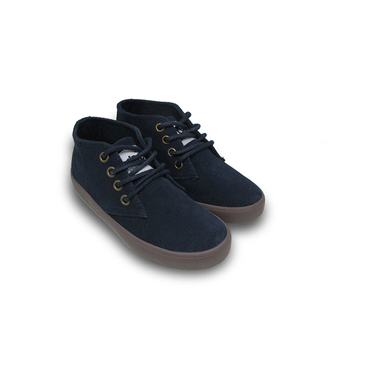 Giày Cổ Lửng Buộc Dây Bé Trai Nomnom NB1602 - Da Lộn Xanh Chàm