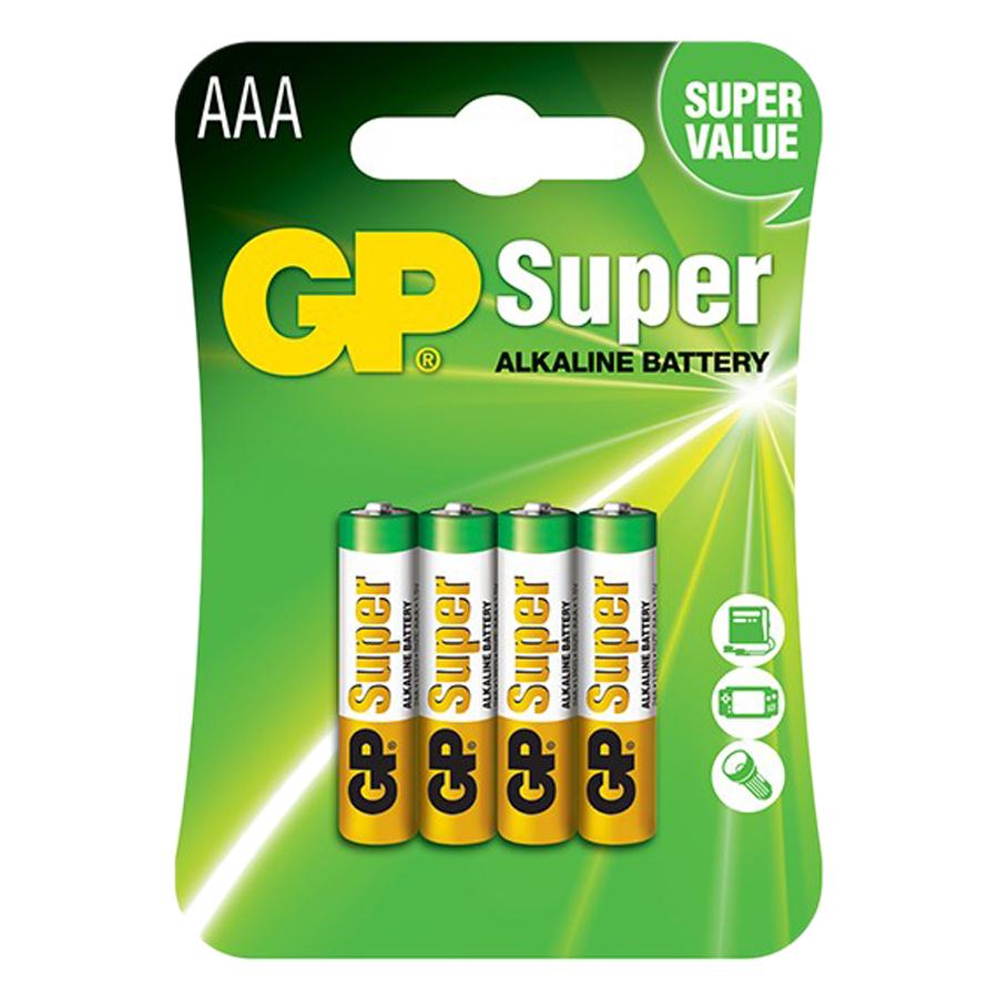 Pin Super GP GP24A-2U4 Alkaline AAA (4 Viên/Vỉ)