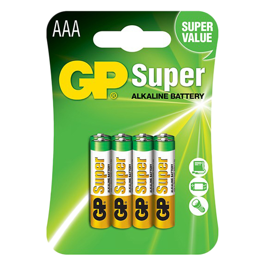 Pin Super GP GP24A-2U8 Alkaline AAA (8 Viên/Vỉ)