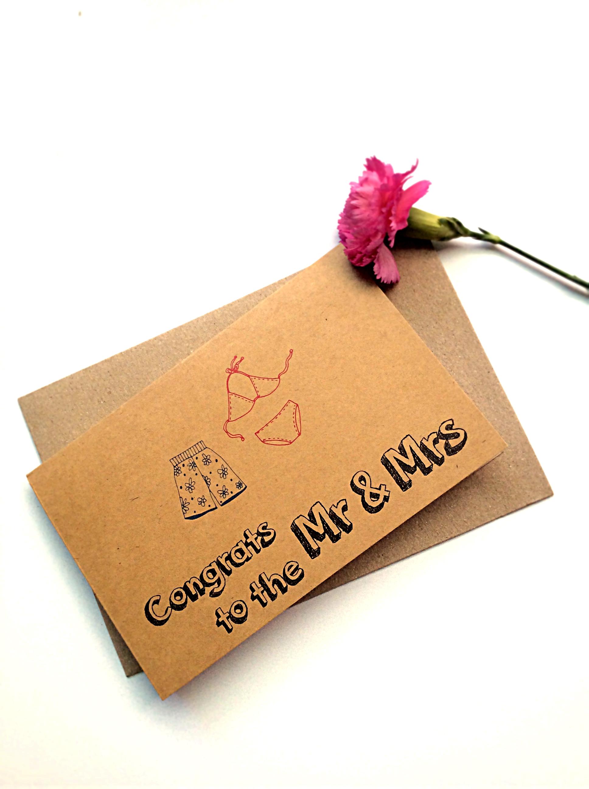 Thiệp Papermix Congrats To The Mr  Mrs - W06 (Nâu)