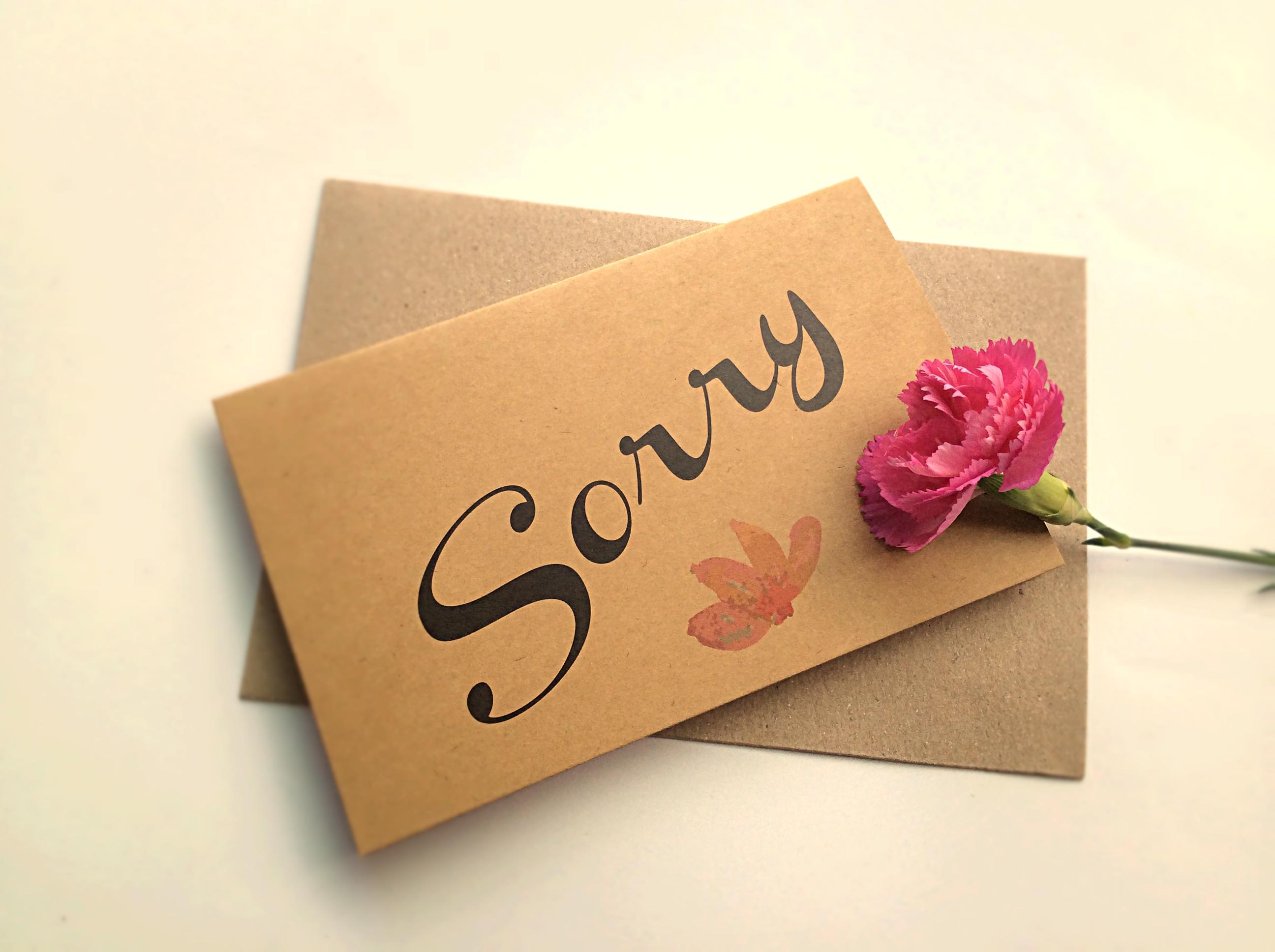 Thiệp Papermix Sorry - S03 (Nâu)