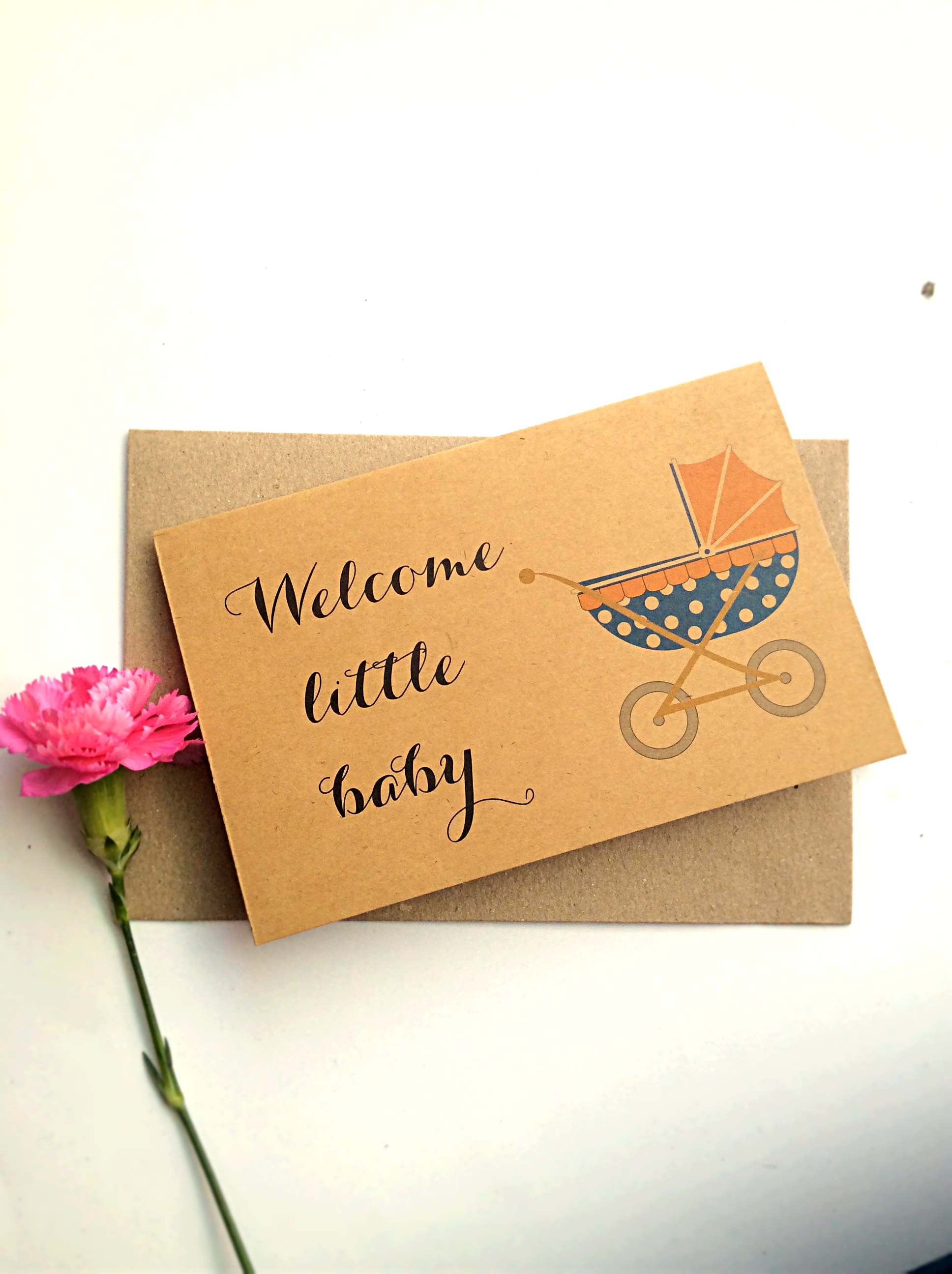 Thiệp Papermix Welcome Little Baby - BB12 (Nâu)