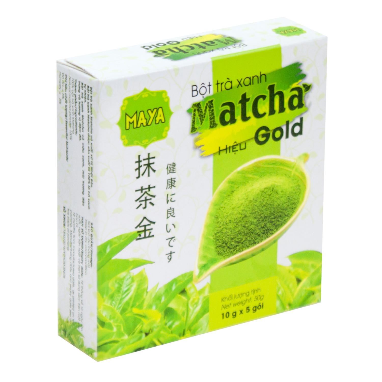 Bột Trà Xanh Matcha Hiệu Gold Cocoa Indochine (Hộp 5 Gói x 10g)