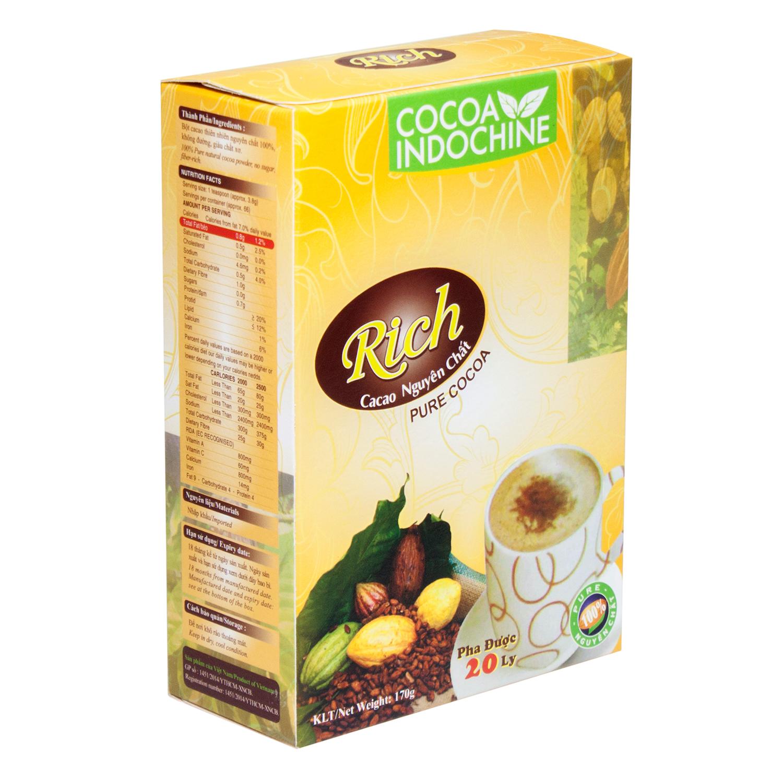 Bột Cacao Hòa Tan Nguyên Chất Rich Cocoa Indochine (Hộp 170g)
