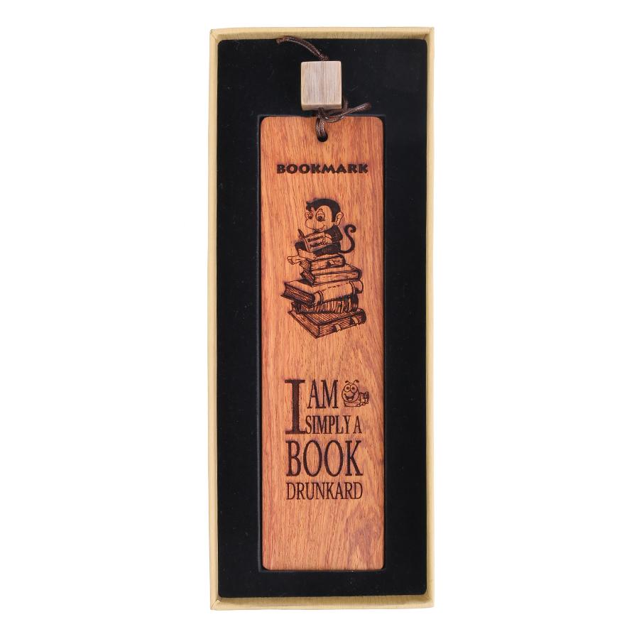 Bookmark Gỗ Tôi Là Mọt Sách