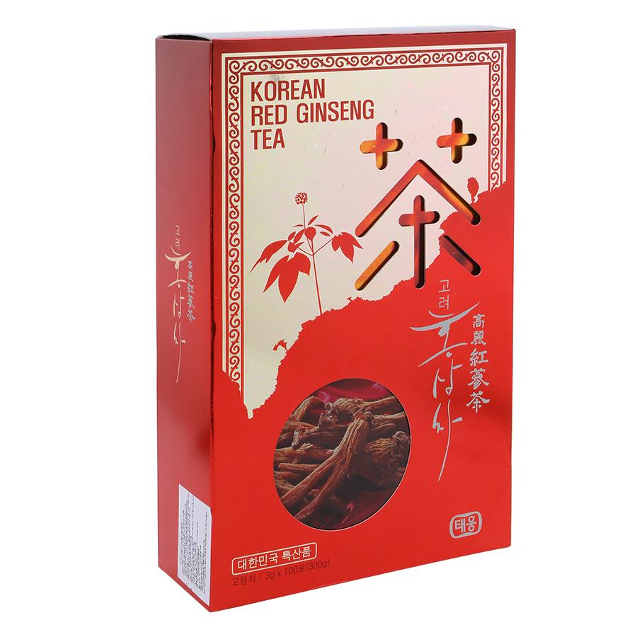 Trà Sâm Hàn Quốc TeaWoong Food Korean Red Ginseng Tea (100 gói x 3g)