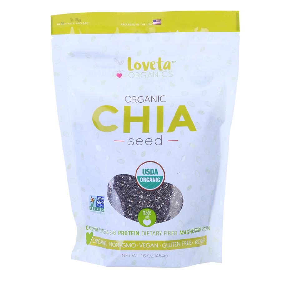Thực Phẩm Chức Năng Hạt Chia Seed Loveta Organics (454g)