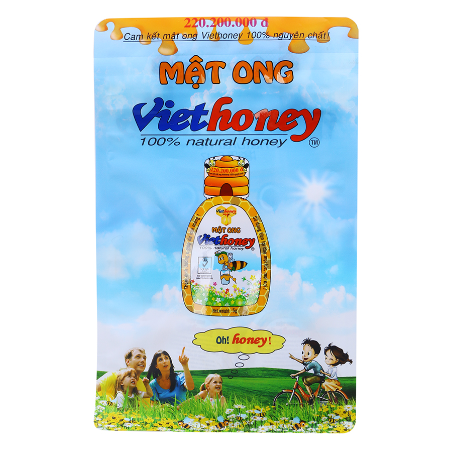 Mật Ong Viethoney Gói (40 Túi x 5g)