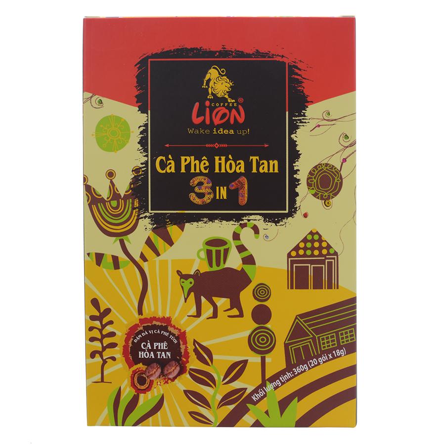 Cà Phê Hòa Tan 3 Trong 1 Lion Coffee (20 gói x 18g)