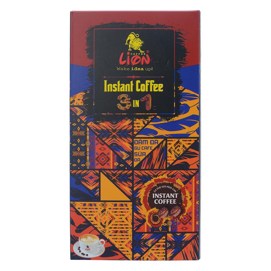 Cà Phê Hòa Tan 3 Trong 1 Lion Coffee (12 gói x 18g)