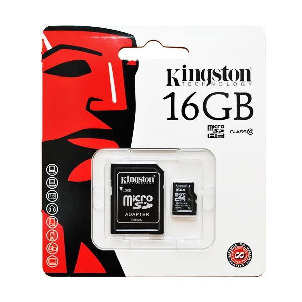 Thẻ Nhớ Micro SDHC Kingston 16GB Class 10 UHS-I SDC10G2/16GBFR (Có Adapter)