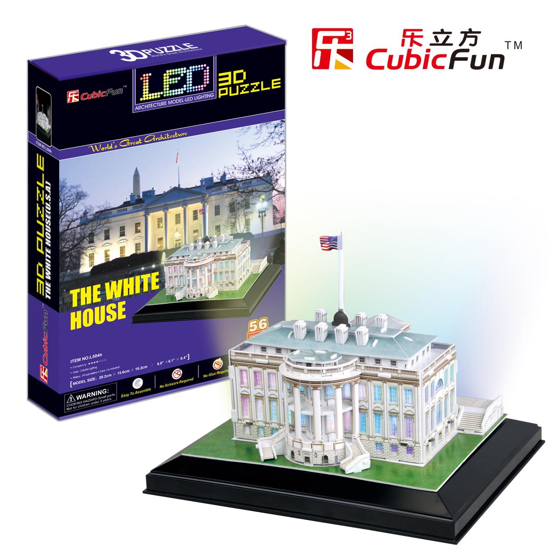 Mô Hình Giấy Cubic Fun: Nhà Trắng (Đèn LED) [L504h]