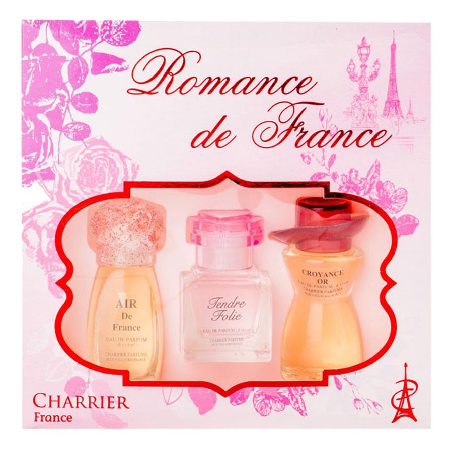 Bộ 3 Chai Nước Hoa Romance De France Charrier Parfums LC3
