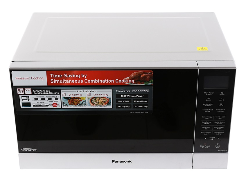 Lò Vi Sóng Điện Tử Có Nướng Inverter Panasonic PALM-NN-GF574MYUE - 27L