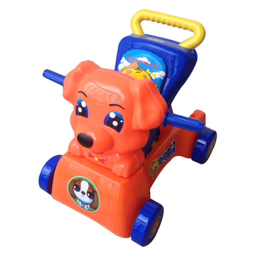 Xe Đẩy Tập Đi K3 Có Nhạc Hình Con Chó Nhựa Chợ Lớn - M1536B-BB15