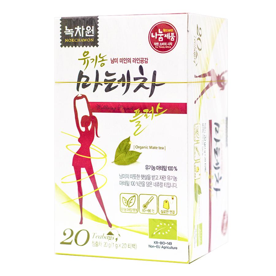 Trà Lá Nokchawon Mate Tea Leaf 20 Túi