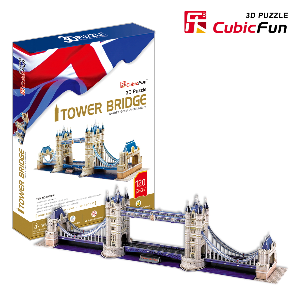 Mô Hình Giấy Cubic Fun: Tower Bridge [MC066h]