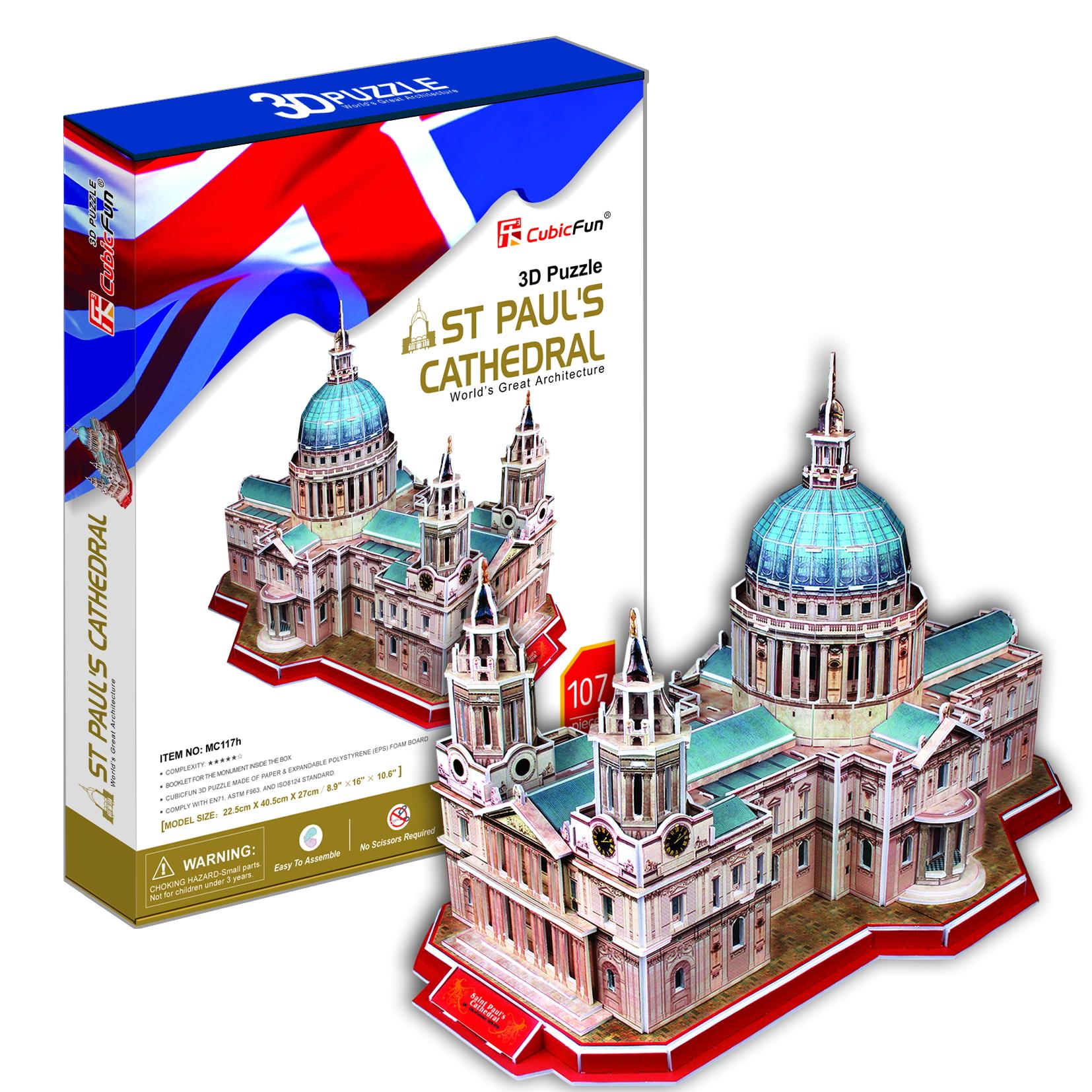 Mô Hình Giấy Cubic Fun: St Paul's Cathedral [MC117h]