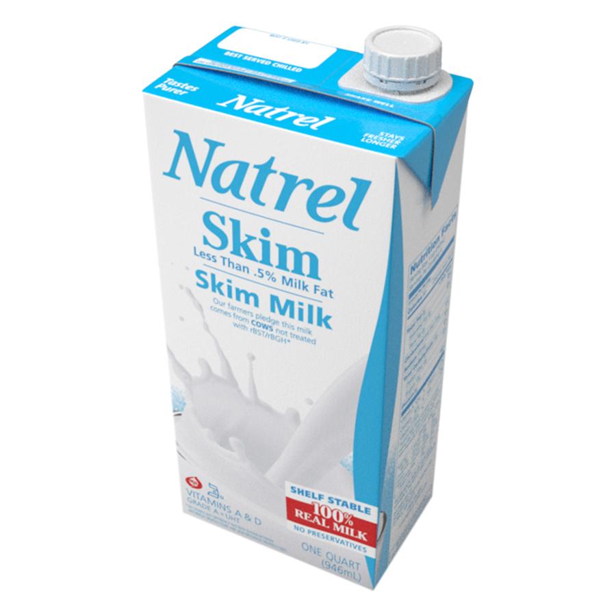 Sữa Tiệt Trùng Natrel Tách Béo Skim Milk (946ml)