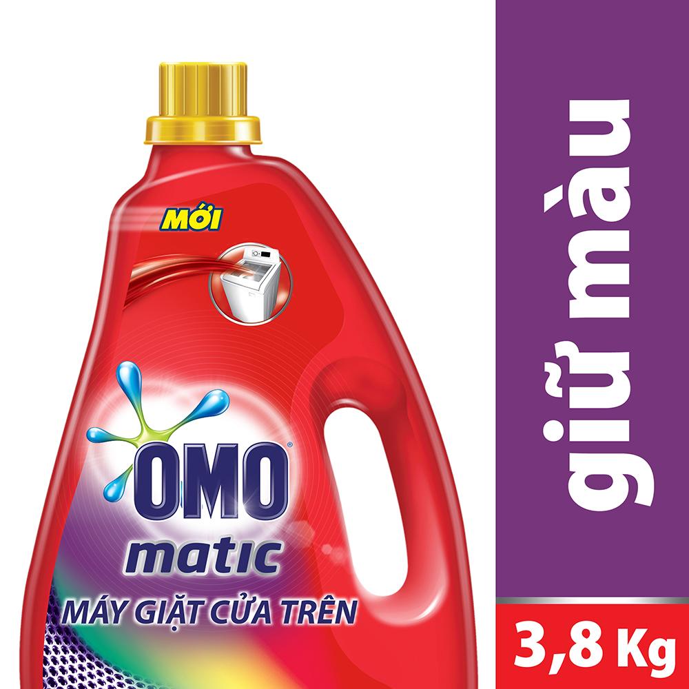 Nước Giặt Máy OMO Bền Đẹp Cửa Trên (3.8kg / Chai)