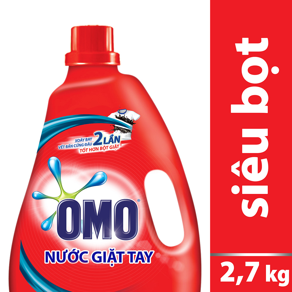 Nước Giặt Tay OMO Chai Đỏ 21163165 (2.7kg)