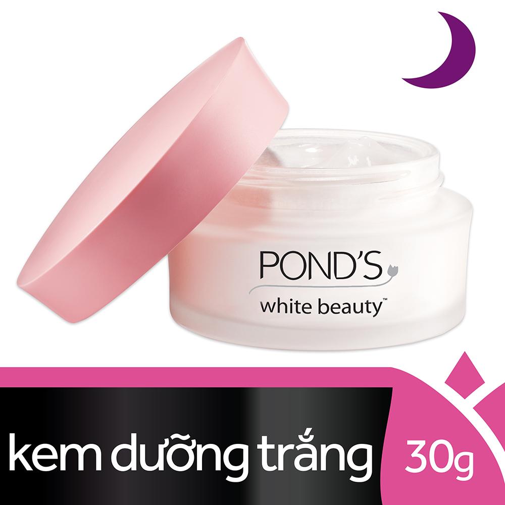 Kem Dưỡng Da Trắng Hồng Rạng Rỡ Pond's White Beauty Ban Đêm (30g)