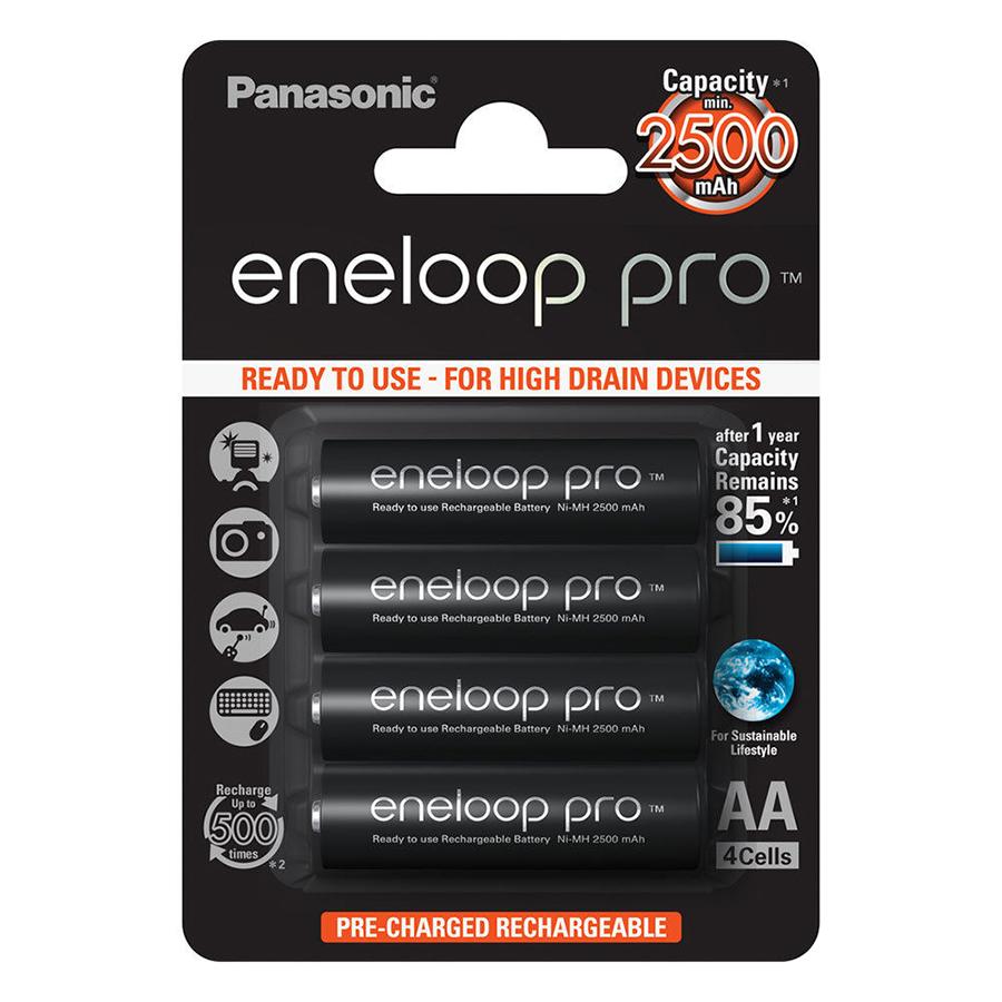 Bộ 4 Pin Sạc AA Panasonic Eneloop Pro (2500mAh)