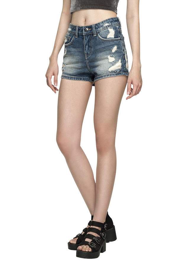 Quần Short AAA Jeans Rách Xanh Đậm SHSVR_XD