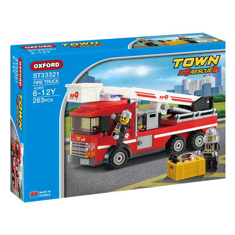 Đồ Chơi Lắp Ráp Oxford - Town Series (Fire Truck) ST33321
