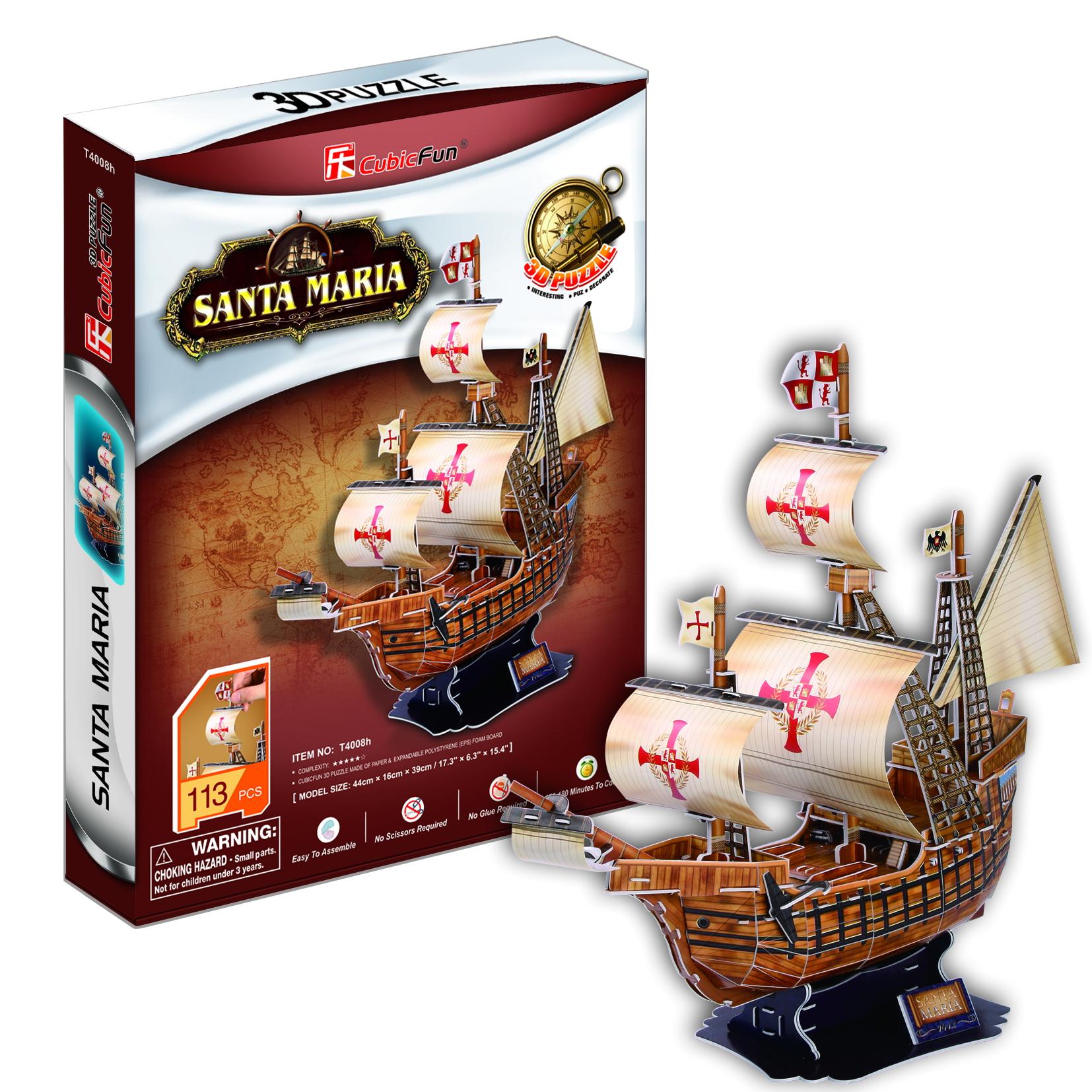 Mô Hình Giấy Cubic Fun: Tàu Santa Maria [T4008h]