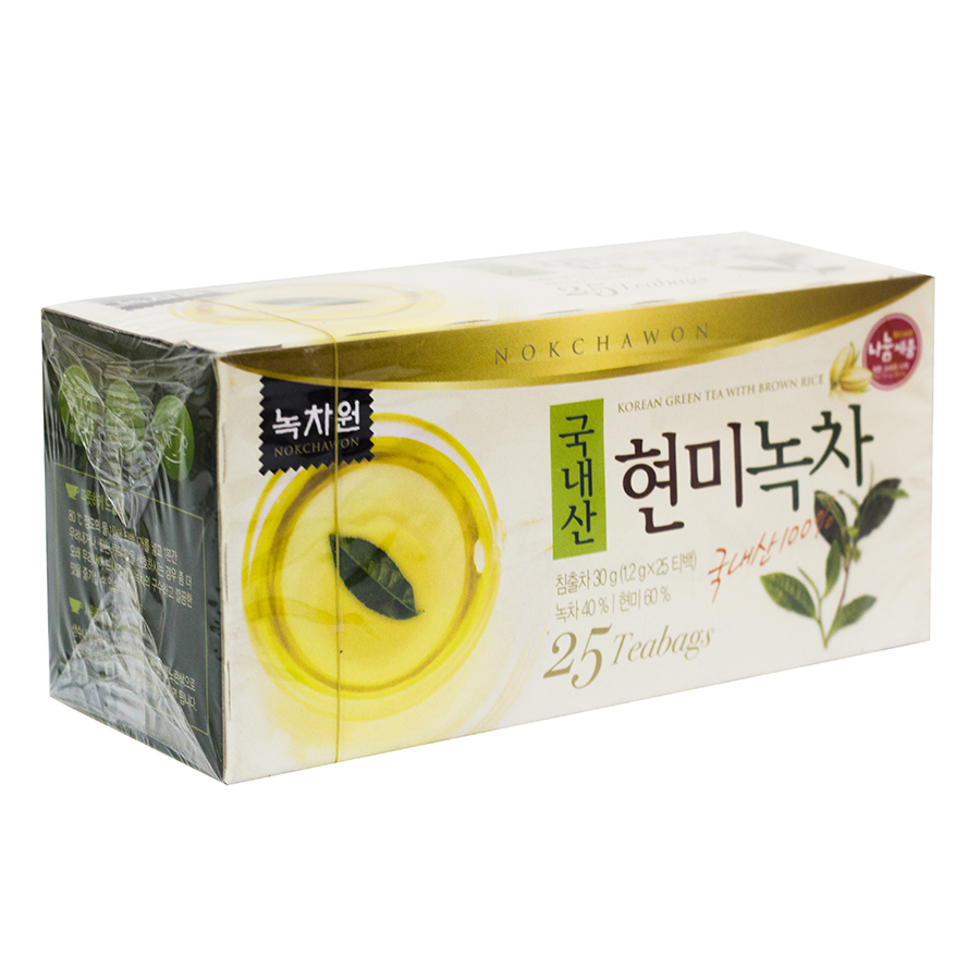 Trà Xanh Gạo Lứt Nokchawon Green Tea With Brown Rice 37.5g